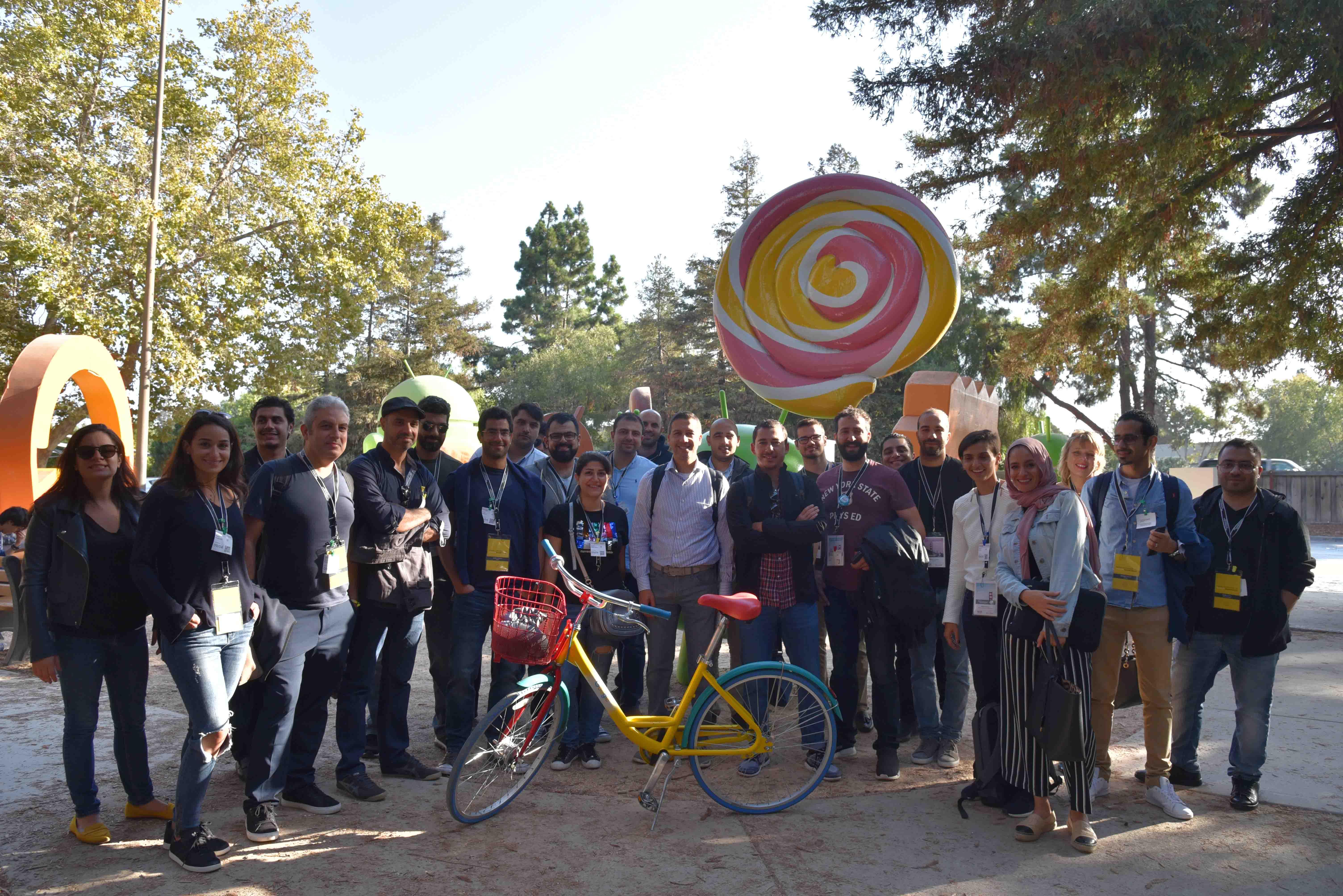 """الشركات الناشئة المشاركة مع فريقًي منتدى MIT لريادة الأعمال في الشرق الأوسط و""""تك وادي"""" وأنس عثمان في مجمّع غوغل"""
